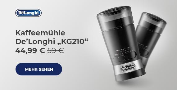 "Kaffeemühle De'Longhi ""KG210"" 49 €"