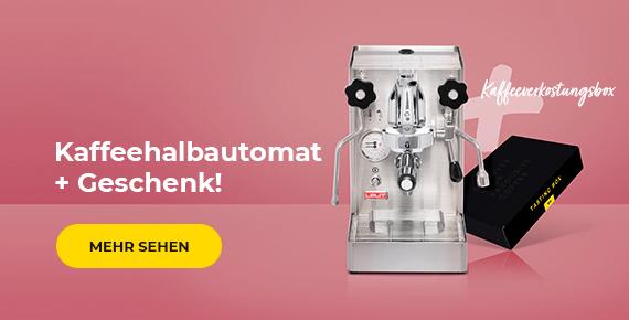 Kaffeehalbautomat + geschenk!
