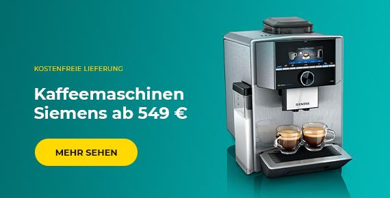 Kaffeemaschinen Siemens ab 549 €