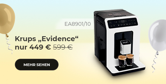"""Krups """"Evidence EA8901/10"""" Kaffeemaschine nur 449 €"""