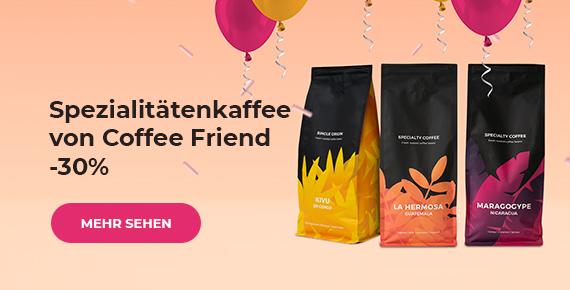 Spezialitätenkaffee von Coffee Friend -30 %