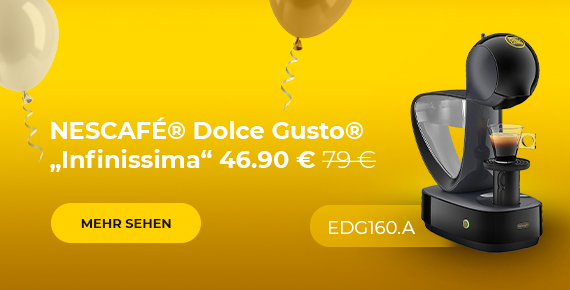 "Kaffeemaschine NESCAFÉ® Dolce Gusto® ""Infinissima EDG 160.A"" nur 46.90 € 79 €"