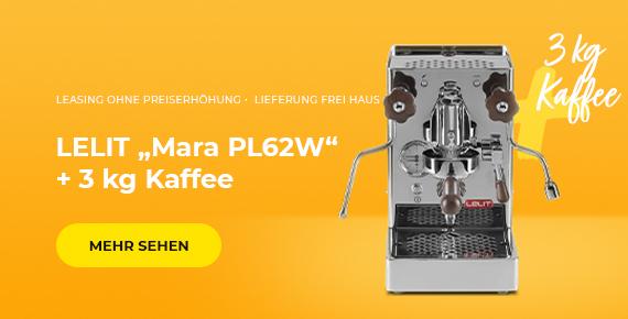 """Kaufen Sie LELIT """"Mara PL62W"""" Kaffeemaschine und erhalten Sie 3 kg Kaffee als Geschenk!"""