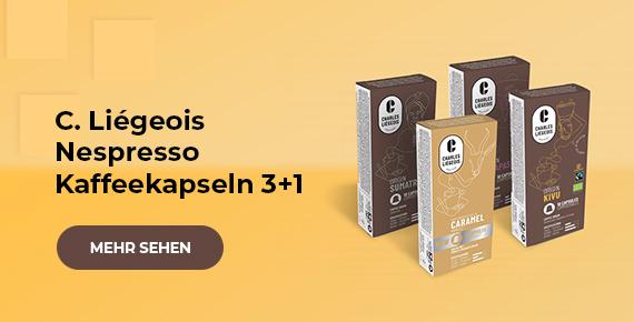 C. Liégeois Nespresso Kaffeekapseln 3+1