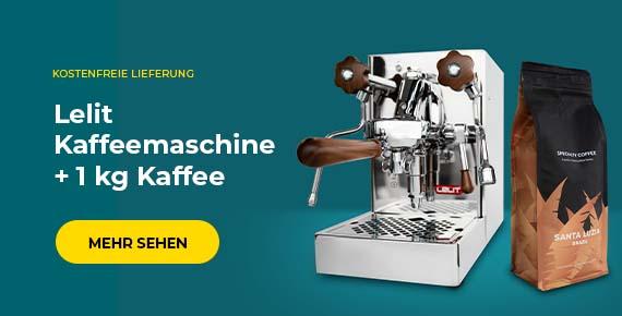 Lelit Kaffeemaschine + 1 kg Kaffee